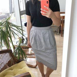 Vintage Houndstooth High Waist Skirt